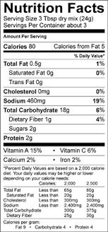 lipton onion soup mix nutrition label