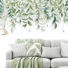 Green Leaves Wall Stickers For Bedroom Living Room Diy Wall Decals Door Mura I For Sale Online