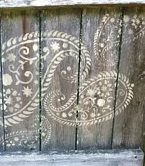 Pin By Jennifer Newhouse On Brilliant Paisley Stencil Fence Art Fence Decor