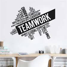 Teamwork Words Wall Sticker Office Quote Wall Decal Vinyl Teamworks Wall Mural Ofiice Decoration Wall Decor Art Decor U776 Wall Stickers Aliexpress