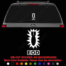 Amazon Com Eod Explosive Ordnance Disposal Die Cut Vinyl Decal Sticker For Car Truck Motorcycle Vehicle Window Bumper Wall Decor Laptop Helmet Size 8 Inch 20 Cm Tall And Color Gloss Black