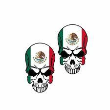 2x 5 5cm 9cm Creative Mexico Flag Skull Window Car Sticker Reflcetive Decal Pvc 6 0270 Wish
