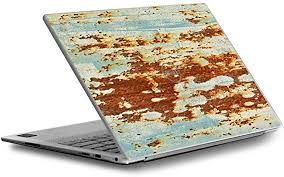 Amazon Com Skin Decal For Dell Xps 13 9370 9360 9350 Laptop Vinyl Wrap Cover Rust Panel Metal Panel Computers Accessories