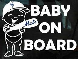 Purchase New York Mets Baby On Board Vinyl Decal Mlb Major League Baseball Kids Motorcycle In Santa Isabel Puerto Rico Us For Us 6 99