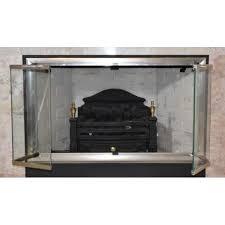 fireplace door brushed satin nickel