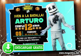 Fortnite Marshmello Invitacion Mega Idea
