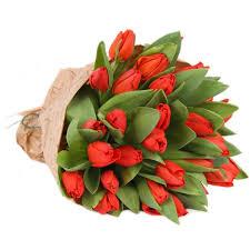 Замовити 51 червоний тюльпан - з доставкою в Києві | Flowers-Ukraine