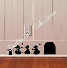 Cinderella Mice Decal Disney Home Decor Disney Wall Decal Etsy In 2020 Disney Room Decor Disney Decor Bedroom Disney Home Decor