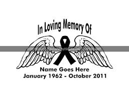In Loving Memory Of Angel Wings Ribbon Memorial Car Stickers In Loving Memory Of Window Decals