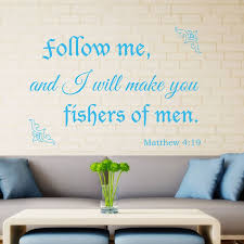 Matthew 4 19 Christian Wall Art Decal Divine Walls