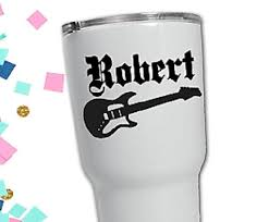 Custom Guitar Decal For Cup Best Man Gift Lettermix Studio