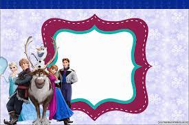 Fiesta Frozen Invitaciones Para Imprimir Gratis Ideas Y