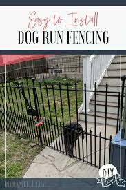 How To Install An Easy No Dig Fenced Dog Run In One Day Diy Danielle