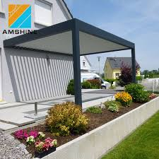 buildings patio aluminum louvered roof