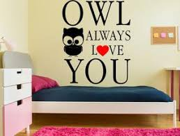 Owl Always Love You Owl Wall Decal Inspirational Wall Signs