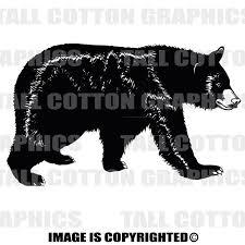 Black Bear Vinyl Decal Wl007 Black Bear Hunting Black Bear Vinyl Decals