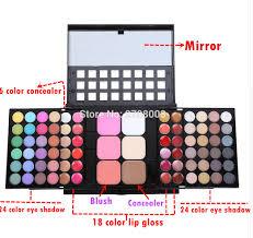 78 color make up sets eyeshadow lip