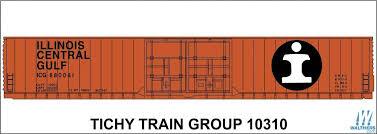 Tichy Railroad Decal Set Illinois Central 86 Autpo Parts Boxcar Orange Car Large Logo 293 10310