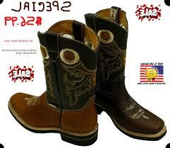 mens square toe cowboy boots dark brown