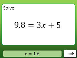 solving one and two step equations
