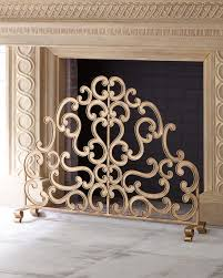 double scroll single panel fireplace
