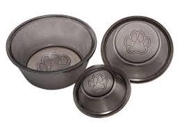 black nickel glass pet bowl glass