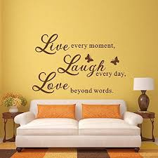 Mairgwall Live Love Laugh Wall Stickers Quotes Vinyl Decal Dark Brown Xlarge Read More At The Image Link Note Wall Vinyl Decor Home Decor Kid Room Decor
