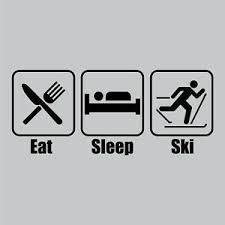 Eat Sleep Ski Skiing Cross Country Vinyl Car Decal Window Bumper Sticker Ebay