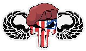 Punisher Jump Wings Airborne Stickers