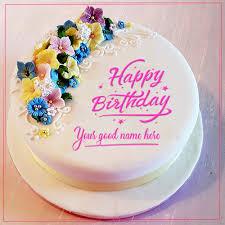 write name on happy birthday cakes and