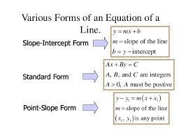 standard form equation for the line