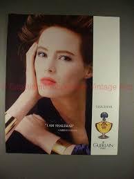 1988 Guerlain Shalimar Perfume Ad w/ Gabrielle Lazure!!