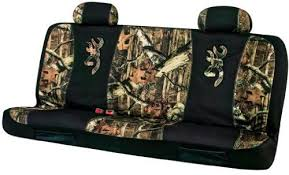 bench camo seat cover 1 piece browning
