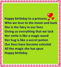 happy birthday to a princess nice wishes