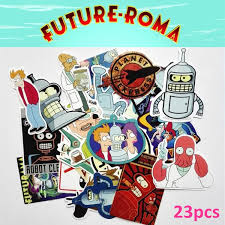 23 Pcs Set Hot Cartoon Futurama Mixed Stickers Jdm On Laptop Decal Home Decor Fridge Skateboard Luggage Doodle Sticker Gifts For Kids Sticker Vinyl Decals Car Window Decal Wish