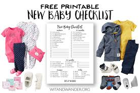 new baby checklist prepping for baby
