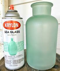 sea glass paint spray or brush to give