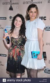 Sarah Steele, Amanda Peet in the press room for 2011 Film Independent Stock  Photo - Alamy