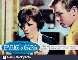 1962 : The italian poster advertising for the movie PARIGI O CARA by  VITTORIO CAPRIOLI , with FRANCA VALERI . - FILM - ITALIA - ITALY - CINEMA -  po Stock Photo - Alamy