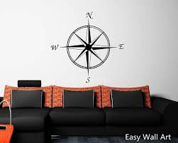 Compass Wall Decal Compass Wall Sticker Compass Wall Decal Etsy
