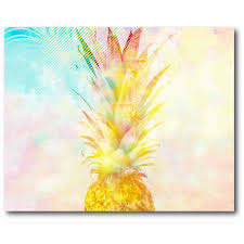 Pineapple Sunrise 16 X 20 Canvas Wall Art