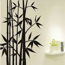 Free Shipping Large Removable Living Room Bedroom Tv Backdrop Black Bamboo Mural Wall Stickers Craft Art Decals Home Decoration Crafts Home Decor Olivia Decor Decor For Your Home And Office