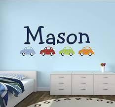 Amazon Com Custom Car Name Wall Decal For Boys Nursery Wall Decals Baby Room Wall Decor 42wx20h Baby