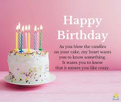 birthday greetings for my ex from a relationship to a wish