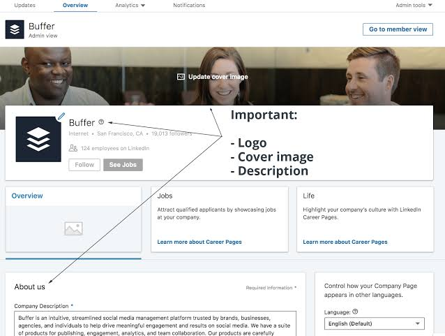 """Image result for Complete your LinkedIn company profile"""""""