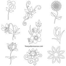 free flower stencil art designs fl