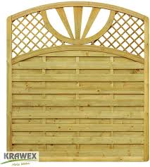 Fence Privacy Fence Slats Vertical Fence Wood Fence With Arc 178 X 200 179 Cm Amazon Co Uk Garden Outdoors