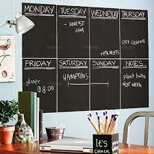 2020 Monthly Planner Calendar Chalkboard Wall Sticker Weekly Removable Chalk Board Blackboard Wall Decal Home Decoration Art Wallpaper From Emmayu 13 07 Dhgate Com