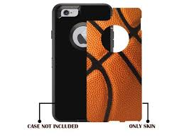 Protective Designer Vinyl Skin Decals Stickers For Otterbox Defender Iphone 6 Iphone 6s Case Basketball Design Patterns Only Skins And Not Case By Teleskins Newegg Com