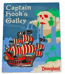 Le Disney Pin Peter Pan Captain Hook Galley Ap Pirate Ship Skull Villain Flag 3d 418194759